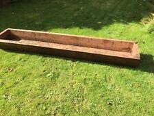 Vintage Large Wooden Feeding Trough Garden Feature Planter