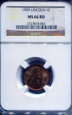 1909 1C Lincoln Cent NGC MS66 RD