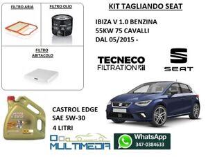 TAGLIANDO FILTRI + OLIO CASTROL 5W-30 SEAT IBIZA V 1.0 BENZINA 55KW 75 CV
