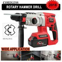 18V20V Cordless Rotary Hammer Drill Impact SDS-Plus Brushless Demolition Battery