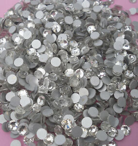 1440 CLear AAA glass Crystal 5mm Flat Back Rhinestones silver-plated bottom ss20
