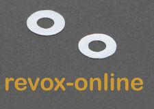 2 Teflon Rondelle, gleitscheiben per tutti REVOX pr99 Mk II, MERCE NUOVA