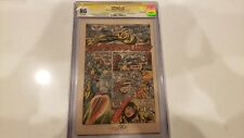 The Avengers #67 NG 6th Page Only CGC SS Signed By Stan Lee 1969 Ultron Rare