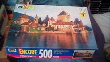 "1998 Encore Jigsaw Puzzle - Scene In Switzerland 13"" x 19"" (500 pc) Swiss river"