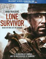Lone Survivor (Blu-ray/DVD, 2014, 2-Disc Set, + Digital HD/UV) NEW FREE SHIPPING