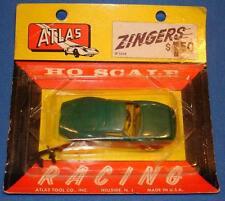 ATLAS HO 1/87 SCALE SLOT CAR BRITISH RACING GREEN PORSCHE GTO ZINGERS 1299 - NOS