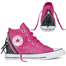 0ef3036eaa37 Converse Ct All Star Hi Triple Zip Canvas Trainers Cosmos Pink Size UK 4.5