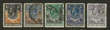 NORTHERN RHODESIA  SG 10/14  HIGH VALUES FROM 1925/29 G.V. SET   GOOD/FINE USED