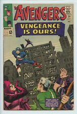 1965 MARVEL THE AVENGERS #20 STAN LEE STORY, KIRBY COVER  VF-    S1