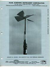 Vintage KAHLSICO Sales Brochure: HIGH SENSITIVITY GILL ANEMOMETER