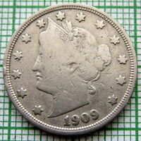 UNITED STATES 1909 5 CENTS - LIBERTY NICKEL