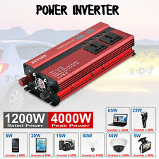 Convertisseur sinus 12V 220V 1200W 4000W Onduleur dc to ac Transformateur FR