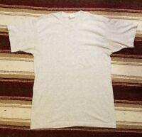 Vintage 80's/90's Blank Heather Gray Basic Pocket T-Shirt Single Stitch (Medium)