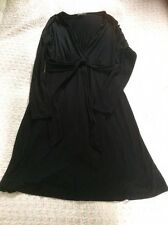 Delightful THE WHITE COMPANY black Long Sleeves Dress With Tie Detail-size 10/12