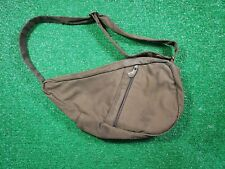 AmeriBag healthy Backpack Dark Brown Marbled Nylon Purse Handbag Shoulder Bag