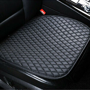 Black PU Leather Front Seat Cover Breathable Pad Premium Interior Accessories