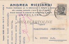 AVELLINO - Andrea Ricciardi - Materiali da Costruzione 1929