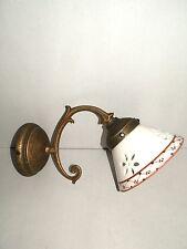 Applique lampada in ottone liberty o barocco casa ufficio hotel CERAMICA MARRONE