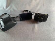 Minolta Hi-Matic S Black Camera W/ Minolta Rokkor 38mm f/2.7 Lens + Case/Strap