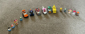 Paw Patrol Pups Bundle Toys Mini Figures + Recycling Truck Helicopter Bulldozer