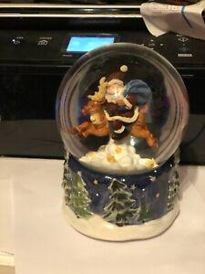 Large  Musical Christmas snow globe