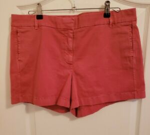 J Crew Sz 14 Coral Faded Red Casual Walking Chino Shorts