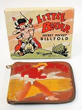 1940's RED RYDER  zippered boxed COLOR leather WALLET Western Cowboy Hero