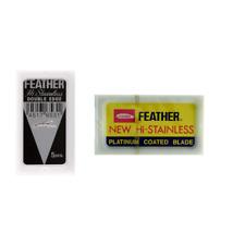 15 Feather hi-stainless platinum razor blades. Sealed orig. packs! USA Seller!