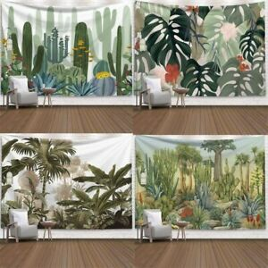 Wall Hanging Tapestry Green Cactus Summer Succulent Tropical Landscape Art Decor