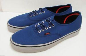 Vans Authentic (Poly Canvas) Estate Blue Skate Shoes
