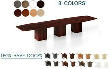16 Ft Foot Conference Table With Grommets For Power And Legs With Doors 8 Colors