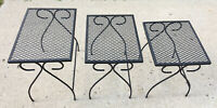 Salterini/Woodard Era Nesting Tables Metal -Patio Pool Garden- Mid Century MCM