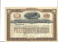18__  Consolidated Traction RR Stock Certificate--- Pennsylvania 100 shares