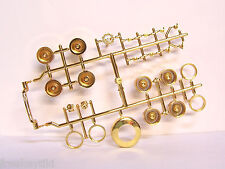 TREE 1/24 1/25 scale Gold Continental Kit 2 Lowrider Rims Hydro Pumps Model Car