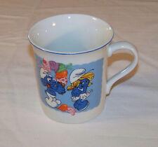 Smurf MUG: c1982 - SMURF'S wooing SMURFETTE w/ ICE CREAM - Peyo