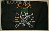 3'x5' Rangers Mess With Best Flag Army Armed Forces Skull Patriotic USA New 3x5