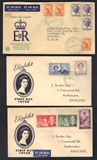 AUSTRALIA 1950's THREE FDC's QUEEN ELIZABETH ISSUES & ROYAL VISITS