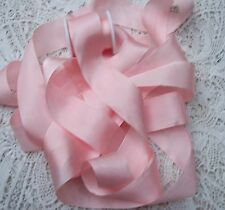 "100% PURE SILK RIBBON ~PEACHY/PINK~COLOR   5 YDS 1"" [25MM] WIDE"