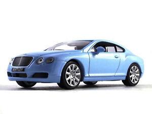 Bentley Continental GT Fastback Blue Luxury Car Diecast Model 1:43 Scale (2003)