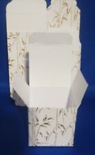 "10  3"" X 3"" X 2"" FAVOR PAPER BOXES  WEDDING BIRTHDAY LADIES PARTY STORAGE GOLD"