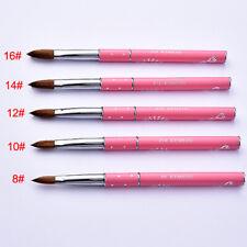 #8-16 Kolinsky Nail Art Acrylic Brush Soft Professional Manicure Beauty Tool