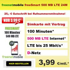 Handytarif D1 Telekom Netz 100 Minuten 500 MB Internet Flat LTE Vertrag 3,99 mtl