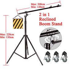 HEAVY DUTY 2-IN-1 500CM ROTATABLE STUDIO BOOM STAND LIGHT STAND 7KG LOAD VERSATI