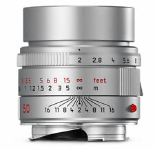 !!! nuevo!!! Leica apo summicron m 50mm 1:2 plata Silver
