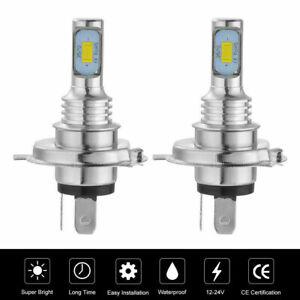 H4 9003 HB2 6000k SUPER WHITE CSP LED Headlights Bulbs Kit High Low Beam Canbus