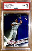 2017 Topps Catching Aaron Judge ROOKIE RC #287 PSA 10 GEM MINT NYY • QTY! $400++