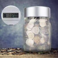 Aussie Coin Money Counting Jar Digital LCD Display OZ Piggy Bank Saving Box Gift