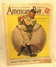 American Boy April 1935 Babe Ruth 52 Page Original 13.5 by 10.5 Inch Magazine