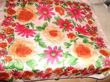 Kopftuch - Blumenmuster > 88cm x 88 cm !