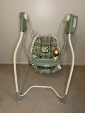 New listing Vintage Graco Gentle Choice Open 6 Speed Easy Entry Baby Swing Safari Plaid